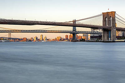 Bmw New York City Bridges Poster by Susan Candelario