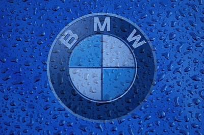 B M W Rainy Window Visual Art Poster
