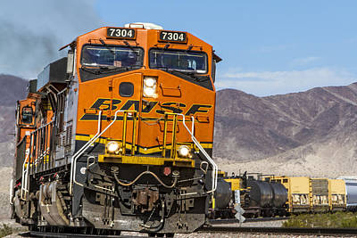 Bnsf In Ludlow, California Poster