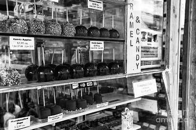 Boardwalk Candy Apples Mono Poster