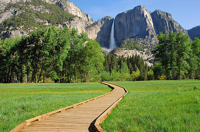Boardwalk To Yosemite Falls  Poster