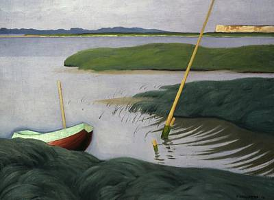 Boat At Berville Poster by Felix Edouard Vallotton