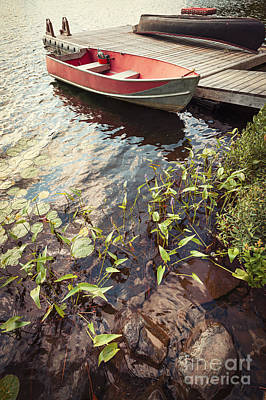 Boat At Dock  Poster