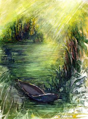 Boat Dock Poster by Allison Ashton