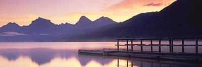 Boat Dock At Lake Mcdonald, Glacier Poster by Panoramic Images