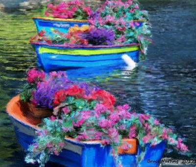 Boat Garden Poster by Bruce Nutting