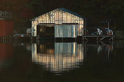 Poster featuring the photograph Boat House Effects by Tammy Schneider