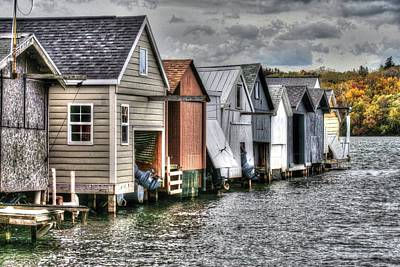 Boat Houses Poster by Michael Allen