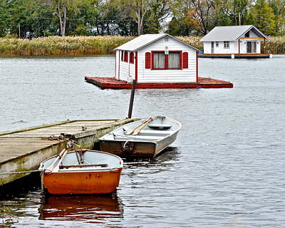 Boat Houses Poster by Frozen in Time Fine Art Photography