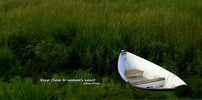Poster featuring the photograph Boat In The Marsh by Caroline Stella