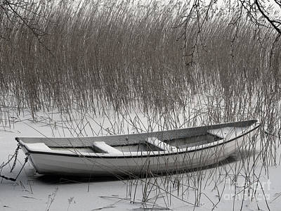 Boat In Winter Poster by Lutz Baar