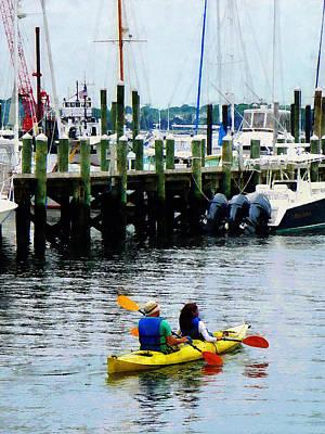Boat - Kayaking In Newport Ri Poster