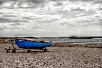 Boat On The Beach At Rhosneigr Anglesey Poster by Georgia Fowler
