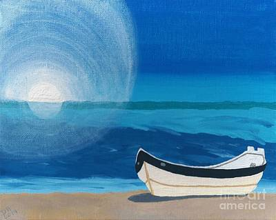 Boat On The Beach Poster