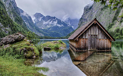 Boathouse On The Obersee Poster