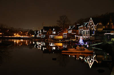 Boathouse Row All Lit Up Poster by Bill Cannon