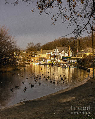 Boathouse Row At Dawn Poster