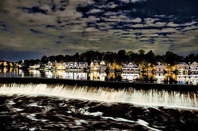 Boathouse Row Lights Poster by Bill Cannon