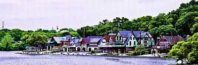 Boathouse Row Panarama Poster by Bill Cannon