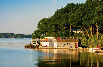 Boathouses On Saint Lawrence River Poster