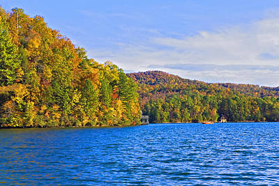 Boating In Autumn Poster by Susan Leggett