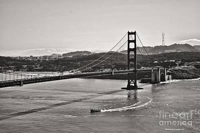 Boating Under The Golden Gate Poster
