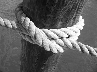 Poster featuring the photograph Boatman's Knot by Ellen Tully