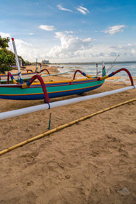 Poster featuring the photograph Boats - Bali by Matthew Onheiber