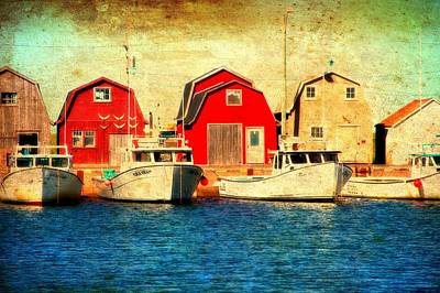 Boats And Boat Houses Pei Photograph  Poster by Laura Carter