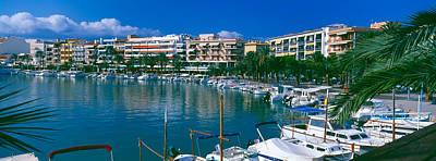 Boats At A Harbor, Majorca, Balearic Poster by Panoramic Images