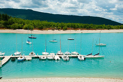 Boats At A Harbor, Port Margaridon Poster by Panoramic Images