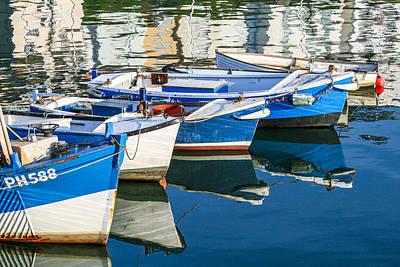 Boats At Anchor Poster