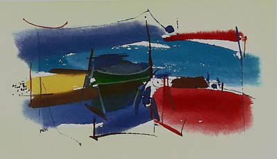 Boats At Dock Poster by Richard Hinger