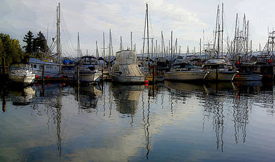 Poster featuring the photograph Boats At Marina On Liberty Bay by Greg Reed
