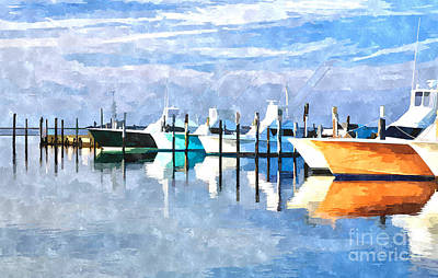 Boats At Oregon Inlet Outer Banks IIi Poster by Dan Carmichael