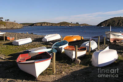 Boats At Port Lligat Poster