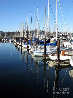 Boats At Rest. Sausalito. California. Poster by Ausra Huntington nee Paulauskaite