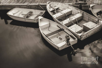 Boats At The Dock Poster by Diane Diederich