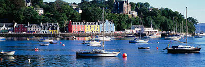 Boats Docked At A Harbor, Tobermory Poster by Panoramic Images