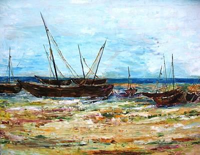 Boats Poster by Doris Cohen