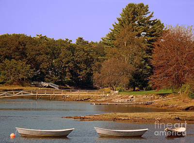 Poster featuring the photograph Boats In Kennebunkport by Gena Weiser