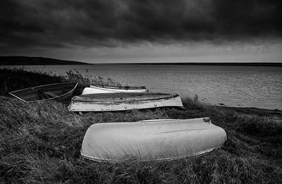 Boats In Storm Poster by Matthew Gibson
