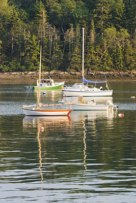 boats In Tenants Harbor Maine Poster