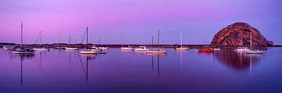 Boats Moored At A Harbor, Morro Bay Poster