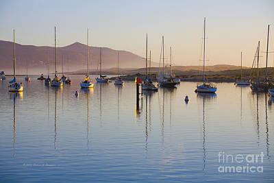 Boats Mooring Poster