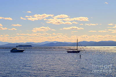Boats On Lake Champlain Vermont Poster by Catherine Sherman