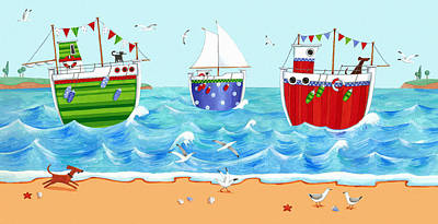 Boats Poster by Peter Adderley