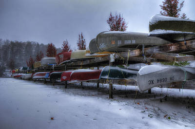 Boats Stored For Winter Poster by Steve Hurt