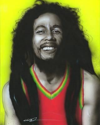 Bob Marley - ' Bob ' Poster by Christian Chapman Art