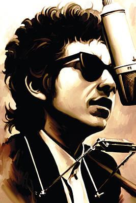 Bob Dylan Artwork 3 Poster by Sheraz A